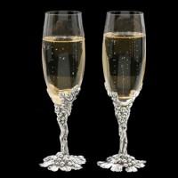 Arthur Court Grape Champagne Flute Set of 2