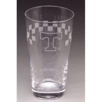 University of Tennessee Etched Pub Glass