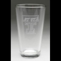 Texas Tech University Pub Glass