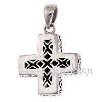 Sterling Silver Reversible Cross Pendant