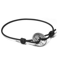 "BB Becker ""Wherever"" Subway Token Cord Bracelet - Black"