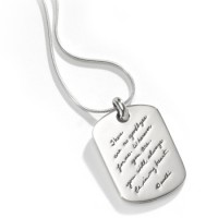"""BB Becker """"No Goodbyes"""" Personal Sterling Silver Dog Tag Pendant w/Chain"""