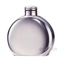 "Boardman Round 4"" Flasks in Pewter and Sterling Silver"