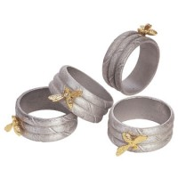 Salisbury Pewter Honey Bee Napkin Rings