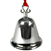 Plain Bell Ornament with Red Ribbon