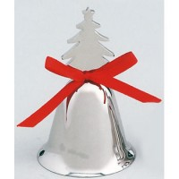Christmas Tree Bell with Red Ribbon