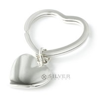 Sterling Silver Heart Key Chain w/ Matching Tag