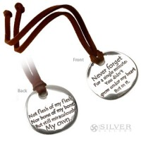Sterling Silver Touchstone on Cord - The Adoption Poem