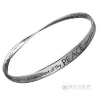Sterling Silver Mobius Bracelet - St. Francis' Prayer