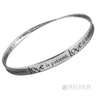 Sterling Silver Mobius Bracelet - 1st Corinthians 13