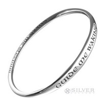Sterling Silver Bangle Bracelet - Guide Me Waking