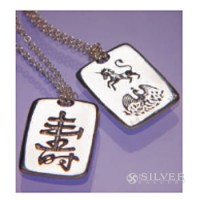 Sterling Silver Feng Shui Necklace - Longevity