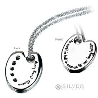 Sterling Silver Quote Necklace - The World Is But a Canvas
