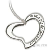 Sterling Silver Necklace - You Have My Whole Heart
