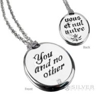 Sterling Silver Quote Necklace - You and No Other