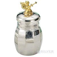 Empire Sterling Silver Gold Plated Tooth Fairy Box - Tall