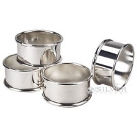 Nickelplate Round Napkin Rings - Set of 4
