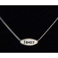 """Sterling Silver Humanity Family/Joy Necklace with 18"""" Chain"""