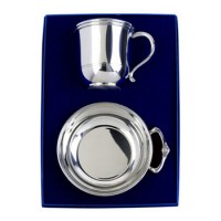 Salisbury Baby Cup and Porringer Pewter Gift Set
