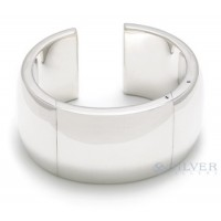 "Sterling Silver 1 1/4"" Hinged Cuff Bracelet"
