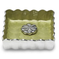 "Julia Knight Peony 5"" Cocktail Napkin Holder - Kiwi"