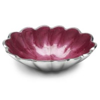 "Julia Knight Peony 5"" Oval Bowl - Raspberry"
