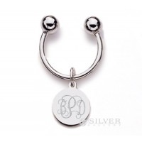 Sterling Silver Keyring - Round Tag
