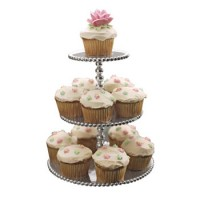 Mariposa Pearl Three-Tiered Cupcake Server