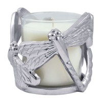 Mariposa Dragonfly Candle/Wine Holder, Soy Blend Candle Included