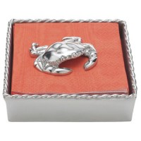 Mariposa Twisted Napkin Box with Crab Weight