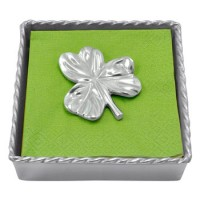 Mariposa Twisted Cocktail Napkin Box with Shamrock Weight