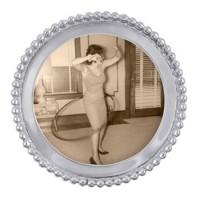 Mariposa Beaded Round Frame
