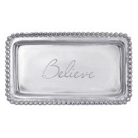 "Mariposa Statement Tray ""Believe"""