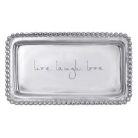 "Mariposa Statement Tray ""Live Love Laugh"""