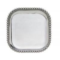 Mariposa String of Pearls Small Square Platter