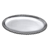 Mariposa String of Pearls Small Oval Platter