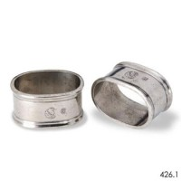 Match Pewter Oval Napkin Rings - Pair