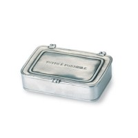 "Match Pewter ""Tutto è Possibile"" Lidded Box - Large"