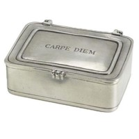 "Match Pewter ""Carpe Diem"" Lidded Box - Large"