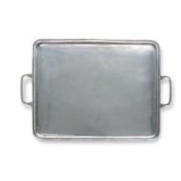 Match Pewter Rectangle Tray w/Handles - Extra Large