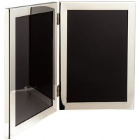 Salisbury Pewter Narrow Border Double Frame - 5 x 7