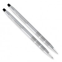 Classic Century Satin Chrome - Ball Point Pen and Pencil Set