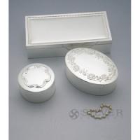 Reed & Barton Silverplate Round Rathmore Keepsake Box