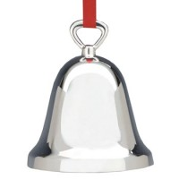 Reed & Barton Plain Bell Christmas Ornament - Silverplate