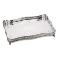 Reed and Barton Footed Rectangular Gallery Tray