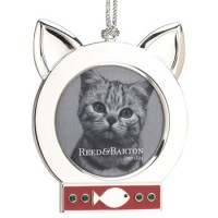 Reed and Barton Cat Picture Frame Ornament