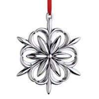 Reed & Barton Sterling Williamsburg Snowdrop Snowflake Ornament 2014