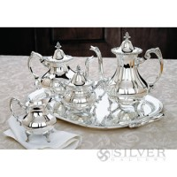 Reed and Barton Burgundy Tea Set
