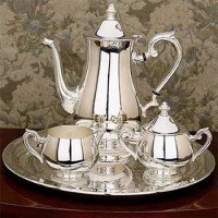 Reed and Barton Gadroon 4-Piece Coffee Set