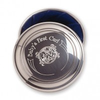 Salisbury Pewter Baby's First Curl Box - Light Blue Liner